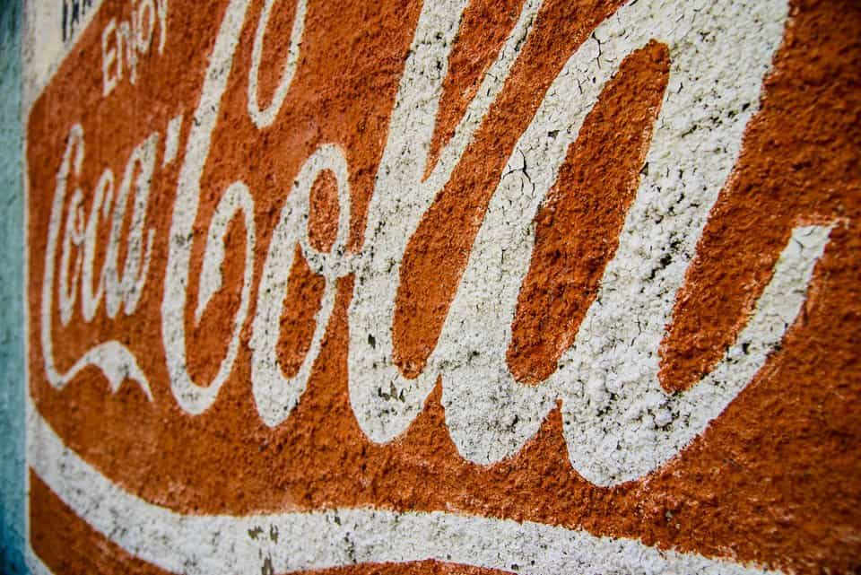 Signage, Coke, coca-cola, Red, old-paint,