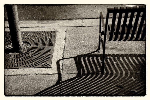 #streetphotography Enjoy the Shadows. Sit a While #071