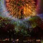 Fireworks, teaching-photography, multi-layered,
