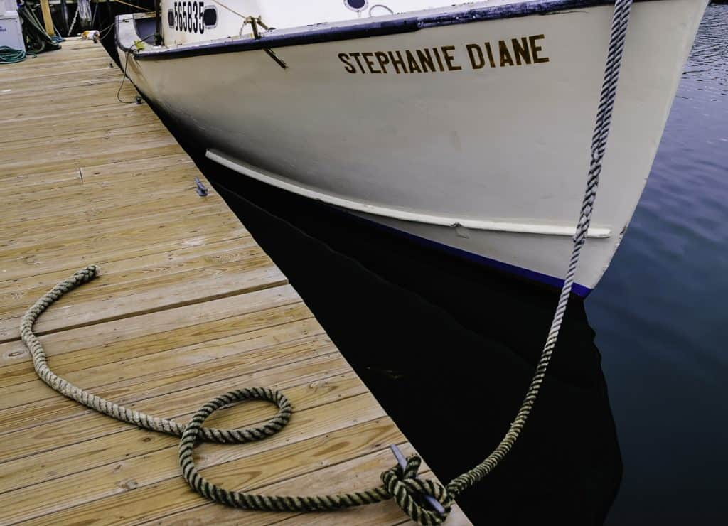 Boat, white, rope, dock, Teaching-photography,