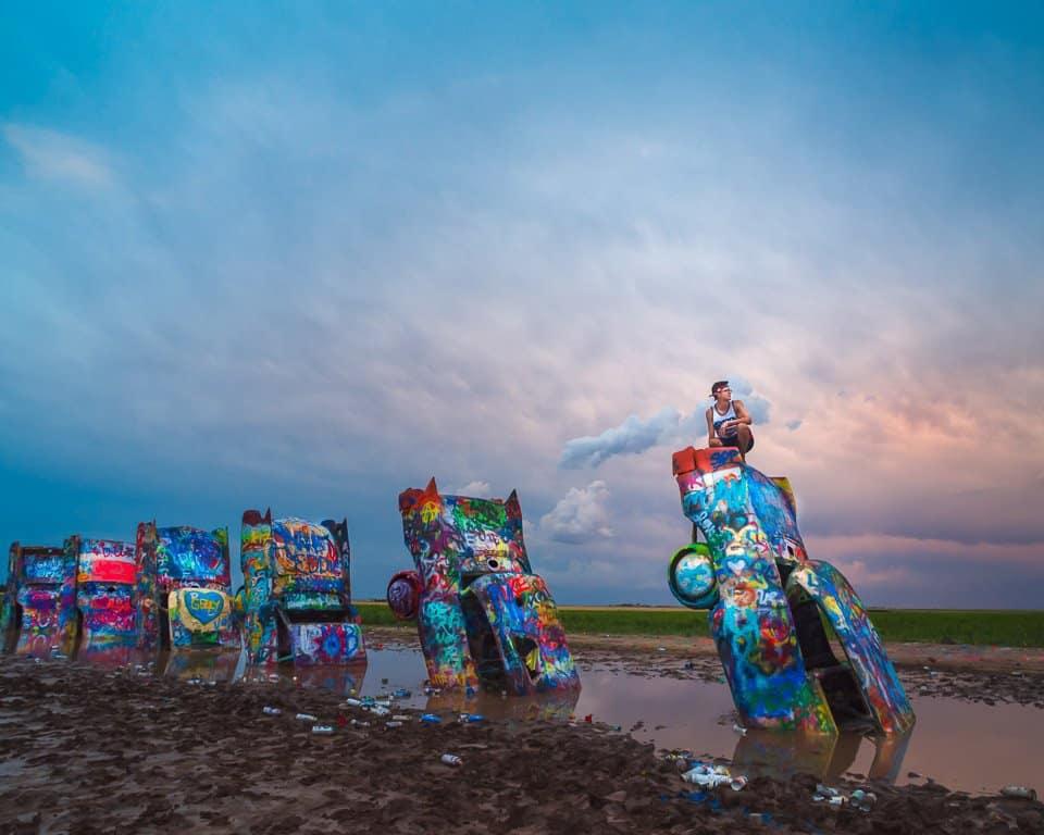 #ConvergingLines #CadillacRanch #Photography #TravelPhotography #Texas #Amarillo #Art #Cars