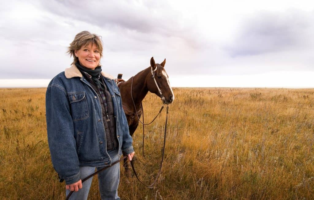 Lady Rancher on her Range on Morning roundup