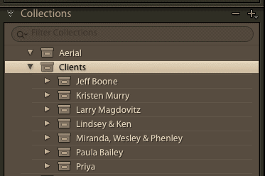Used as illustration for Lightroom File Management Workflows. Showing Collections