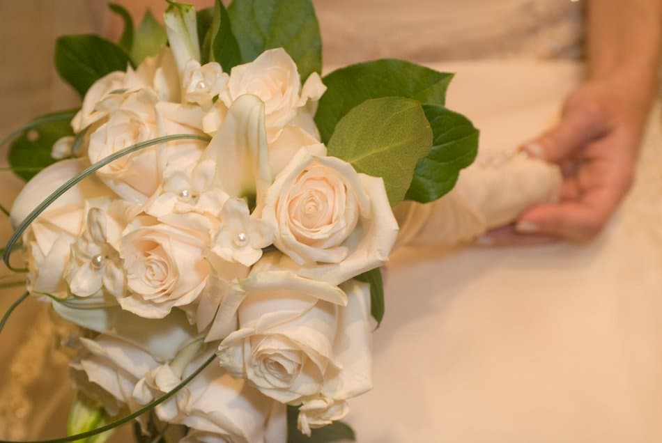 Closeup of Bridal Bouquet and Bride for Wedding Photography Shot List in Excel